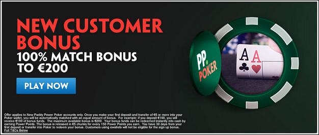 Paddy Power new customer bonus 200
