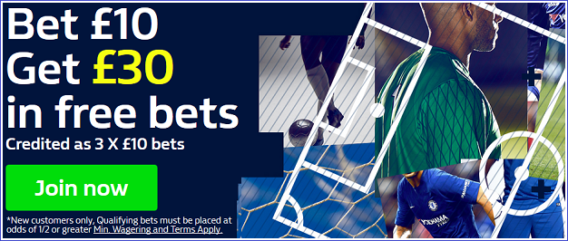 William Hill 30 Free Bets